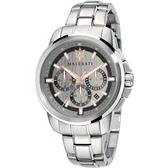 ★MASERATI WATCH★-瑪莎拉蒂手錶-三眼炫銀款-R8873621004-錶現精品公司-原廠正貨-