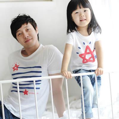 24小時快速出貨 純棉 親子裝 MIT台灣製【Y0250】親子裝-星星的歸宿 可單買 班服 團體服