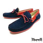 【Marelli】反絨帆船休閒鞋 藍色(54958-BLUS)