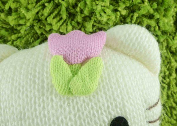 【震撼精品百貨】Hello Kitty 凱蒂貓~KITTY絨毛娃娃-針織材質-鬱金香造型-M