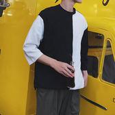 夏季七分袖t恤男正韓潮流學生寬鬆百搭7分短袖t?上衣服限時八九折