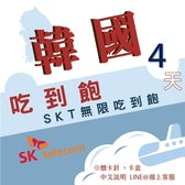 現貨 韓國SKT 4日旅遊網卡 不降速 4G高速飆網韓國網卡吃到飽/南韓網卡/網路卡/韓國網卡/韓國旅遊