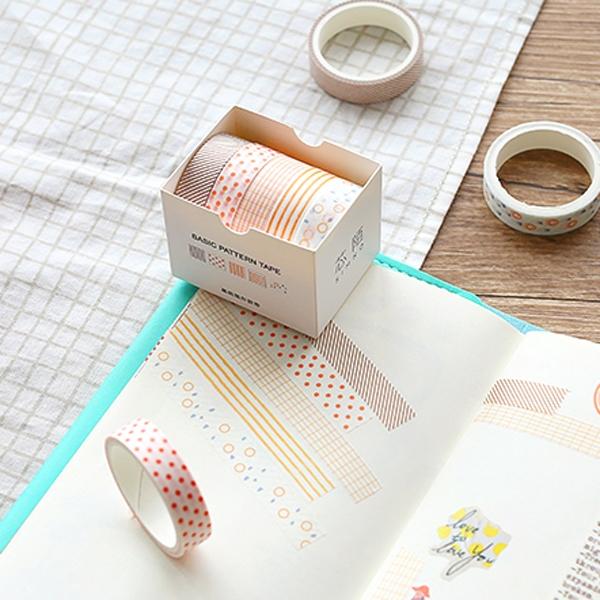 【BlueCat】第二代基礎圖形 5卷裝 盒裝和紙紙膠帶
