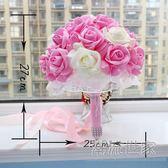 新娘手捧花 韓式婚禮結婚用品 仿真假花手拋花球創意攝影道具