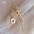 耳環 不對稱耳環女韓國氣質網紅耳飾新款潮耳釘925純銀銀針
