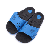 JUMP 一片式魔鬼氈排水拖鞋 黑藍 JM027B 大童鞋 鞋全家福