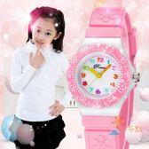 兒童手錶兒童手錶女孩男孩防水小學生可愛時尚小巧果凍女童小孩少女手錶女