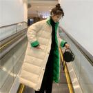 羽絨外套 新款網紅輕薄韓版羽絨服女中長款時尚過膝外套歐貨外套潮  維多