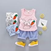 嬰兒短袖套裝 小兔胡蘿蔔背心 +短褲 寶寶童裝 YN1612 好娃娃