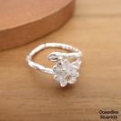 §海洋盒子§雪白蓮花造型925純銀戒指.開口式戒指.可調整戒圍《925純銀戒指》
