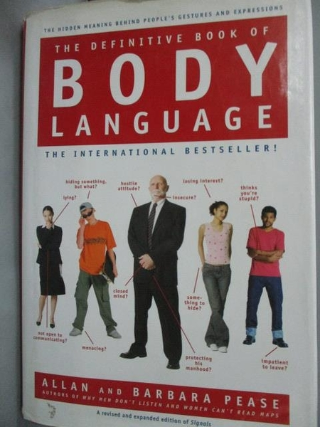 【書寶二手書T8/體育_WGR】The Definitive Book of Body Language_Pease,