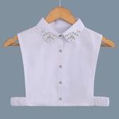 假領子假領片韓版假衣領 寶石款 帽T洋裝襯衫針織大學T外套內搭白色滿額送愛康衛生棉[E1420] 預購