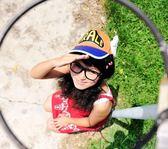 阿拉蕾帽子棉布兒童成人親子帽鴨舌帽子棒球帽防曬翅膀韓版天使帽 藍嵐