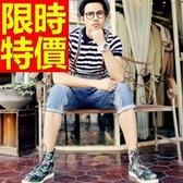吊帶褲-造型自信個性牛仔男長褲56i132【巴黎精品】