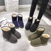 雪靴 雪地靴女冬季新款學生加絨加厚保暖網紅短筒短靴平底棉鞋子潮   魔法鞋櫃