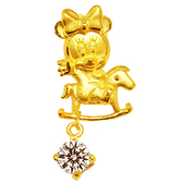 迪士尼系列金飾-黃金墜子-木馬美妮款