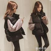 馬甲 馬甲女短款韓版背心中長款chic羽絨棉馬甲坎肩外套 蓓娜衣都