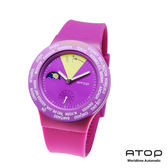 ATOP|世界時區腕錶-24時區經典系列(紫色)