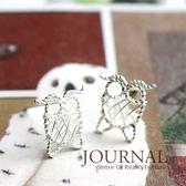 925 純銀纏繞線條童趣貓頭鷹針式耳環_ 質物日誌Journal