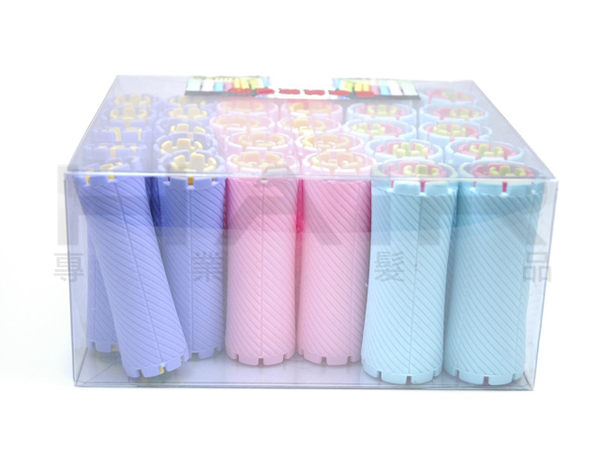 日本捲心斜紋磁波捲組 捲子 捲心 冷燙 燙髮 一盒100入【HAiR美髮網】