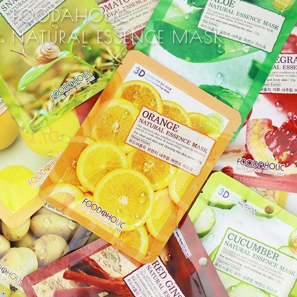 韓國 FoodAHolic 3D全頸立體面膜 多款可選 【櫻桃飾品】【24199】