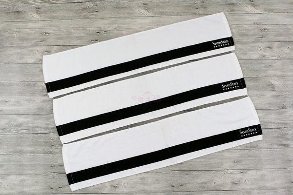SevenStars 日本七星 薄款 純棉運動毛巾 浴巾 客戶訂製庫存出清 / 20x90cm 60g【快樂主婦】