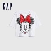 Gap女裝 Gap x Disney 迪士尼系列純棉紮染短袖T恤 782773-米妮圖案