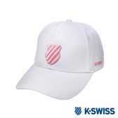 K-SWISS Basic 3D Shield Logo Cap運動棒球帽-白