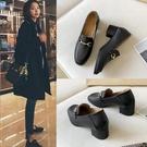 英倫風小皮鞋女秋季2020新款中跟復古粗跟高跟黑色單鞋軟皮樂福鞋 【端午節特惠】
