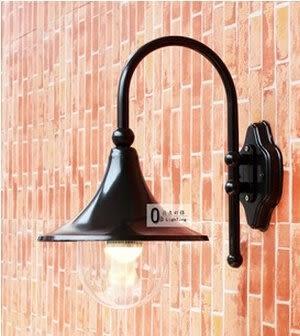 設計師美術精品館庭院室外防水壁燈 小區門口圍牆柱燈戶外 歐式喇叭走廊陽台花園燈