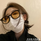 吳亦凡同款墨鏡女夏海邊2021新款潮男小臉網紅橙黃色太陽鏡女眼鏡 科炫數位
