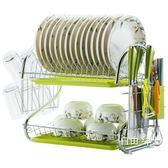 碗架瀝水架家用不銹鋼色廚房置物架餐具裝碗筷收納盒箱控水放碟盤髮Y 1件免運