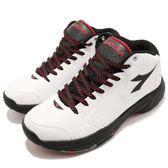 DIADORA 籃球鞋 白 黑 炫光籃球鞋 輕量化彈性中底 基本款 運動鞋 男鞋【PUMP306】 DA7AMB5529