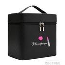 大容量韓國化妝包可愛小號方品中袋隨身便攜手提收納盒簡約化妝箱 依凡卡時尚