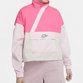 Nike AS W NSW ICN Clsh Anrak JKT 女 白粉 短版 休閒 衝鋒 外套 CU5971-639