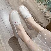 現貨 果凍豆豆鞋護士鞋女軟底春季新款果凍厚底一腳蹬豆豆鞋單鞋小皮鞋小白鞋  【快速出貨】
