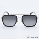 DB EYEWEAR 貝克漢設計品牌 DB7002S (黑-金) 復古 雙槓 太陽眼鏡 久必大眼鏡