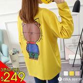 新品價249元★F-DNA★背影熊前英字長版圓領長袖上衣T恤(3色-M-2XL)【ET12878】