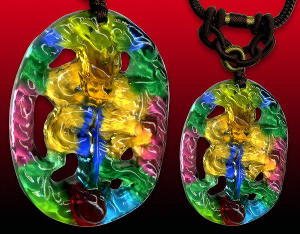 鹿港窯~居家開運水晶琉璃項鍊~蟠龍◆附精美包裝◆免運費送到家
