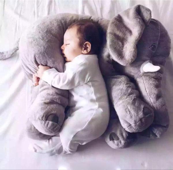 Qmishop 居家療癒熱銷 大象嬰兒抱枕 【J2001】