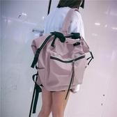 韓版高中雙肩包女ins風大容量休閒旅游旅行包百搭背包大學生書包  極有家