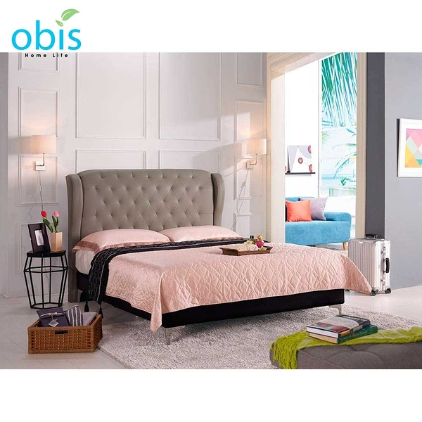 OB003-多娜達5尺雙人床(駝色皮)(19CM/655-6)【DD House】