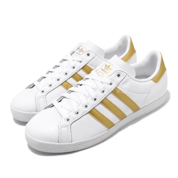 【海外限定】adidas 休閒鞋 Coast Star W 白 金 女鞋 基本款 百搭款 運動鞋【ACS】 EE6200