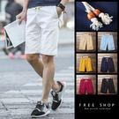 [現貨]夏季休閒褲五分褲時髦短褲紅布標彈...