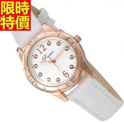 鑽錶-熱銷明星同款設計女手錶3色5j104[巴黎精品]