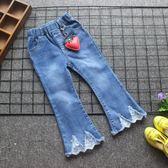 女童牛仔褲2018春裝新款韓版兒童小女孩寶