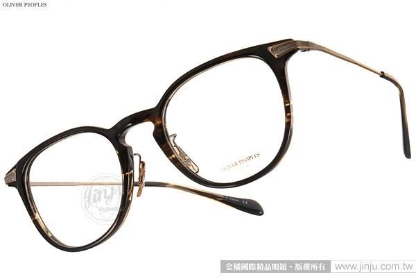 OLIVER PEOPLES 光學眼鏡 ENNIS-J 1382 (黑-金) 暮光之城-克麗絲汀史都華配戴款 # 金橘眼鏡