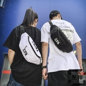 韓版腰包男多功能胸包女時尚嘻哈側背斜背小包【左岸男裝】