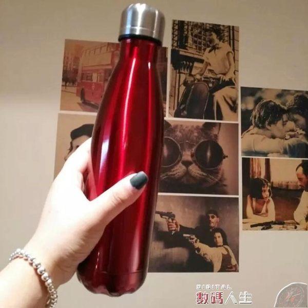 保溫瓶創意可樂瓶保溫杯真空304不銹鋼韓版個性男女學生子彈頭運動水杯 數碼人生