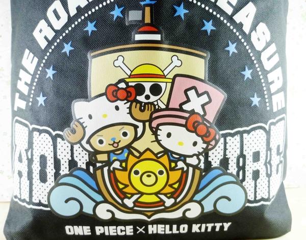 【震撼精品百貨】ONE PIECE&HELLO KITTY_聯名海賊王喬巴&凱蒂貓系列~手提袋-黑海盜船